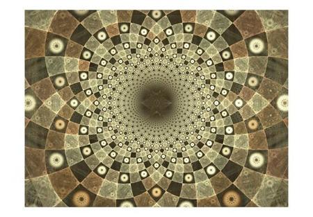 Fototapeta - Brown mosaic