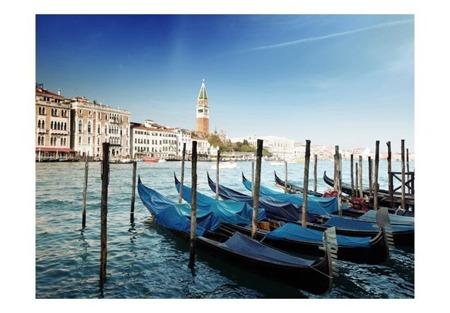 Fototapeta - Gondole i Dzwonnica św. Marka - Wenecja
