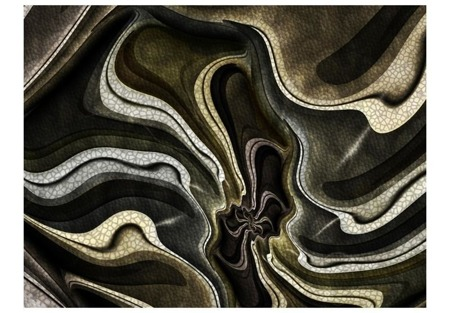 Fototapeta - Green and brown textured fractal