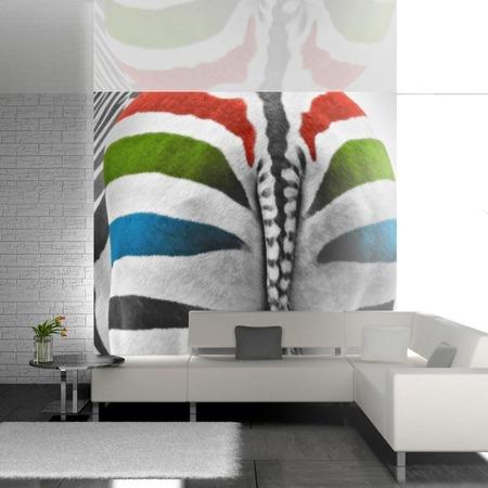 Fototapeta - Kolorowa zebra