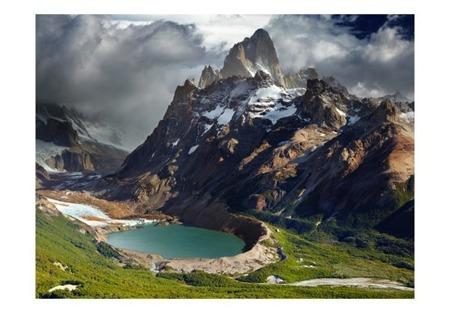Fototapeta - Mountain landscape with lake