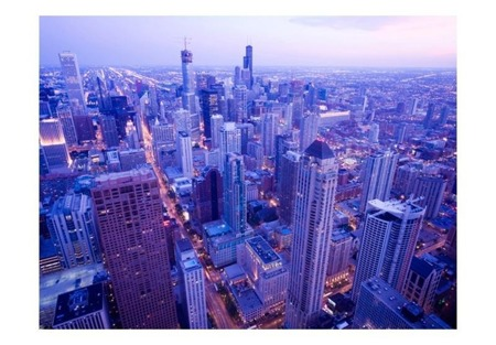 Fototapeta - Nieśmiałe światła Chicago o zmroku