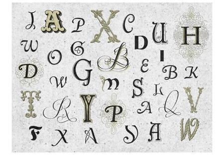 Fototapeta - Royal alphabet