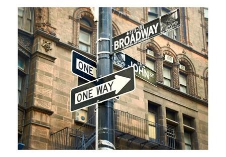 Fototapeta - Wszystkie drogi prowadzą na Broadway