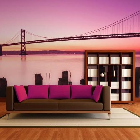 Fototapeta - Zatoka San Francisco w fiolecie, Kalifornia