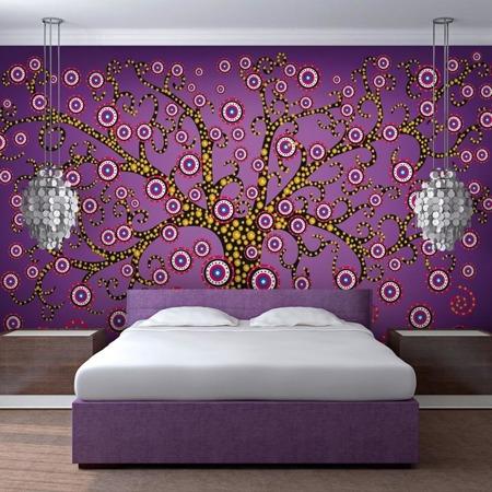 Fototapeta - abstrakcja: drzewo (fioletowy)