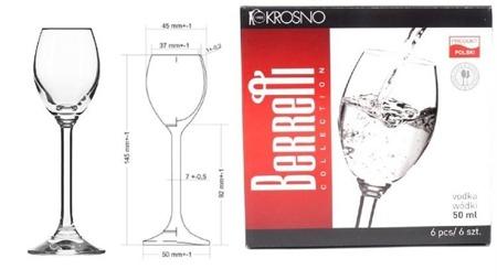 Kieliszki do wódki 6 szt Berretti KROSNO 6×50 ml