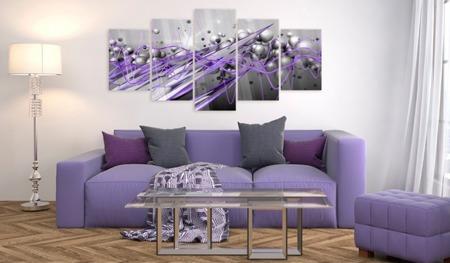 Obraz na szkle akrylowym - Fioletowe uderzenie [Glass]