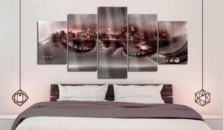 Obraz na szkle akrylowym - Karmazynowe miasto [Glass]