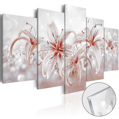 Obraz na szkle akrylowym - Kwiatowa saga [Glass]