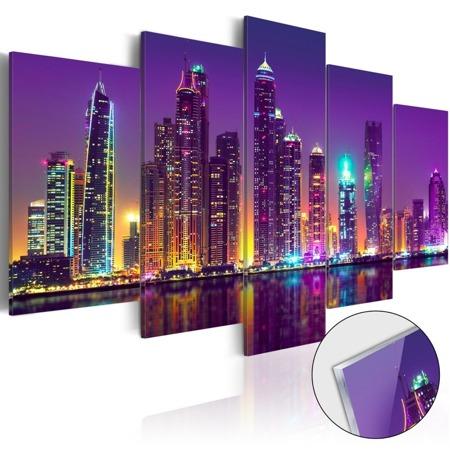 Obraz na szkle akrylowym - Purpurowe noce [Glass]