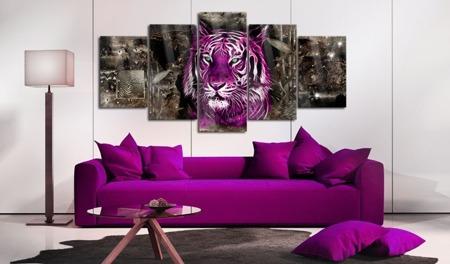 Obraz na szkle akrylowym - Purpurowy król [Glass]