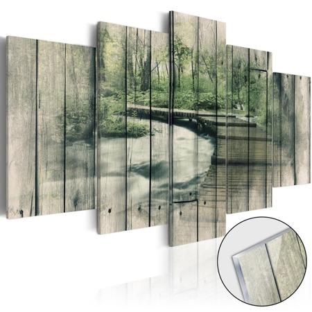 Obraz na szkle akrylowym - Rzeka tajemnic [Glass]