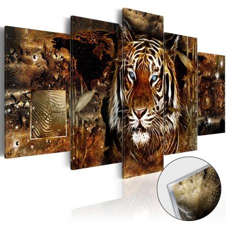 Obraz na szkle akrylowym - Złota dżungla [Glass]