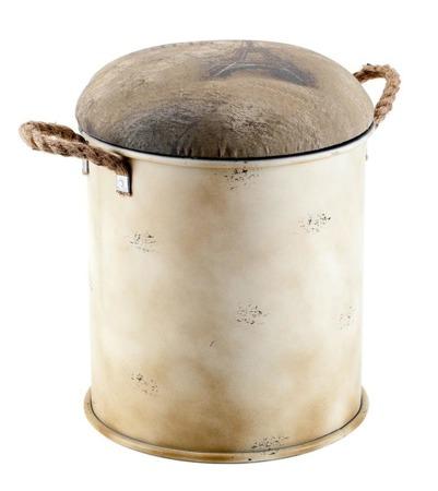 Pufa z pojemnikiem LAMALI Aluro 34cm x 42,5cm x 34cm